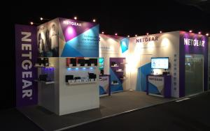 NETGEAR 3m x 9m Exhibit at IBC 2014 in Amsterdam, The Netherlands