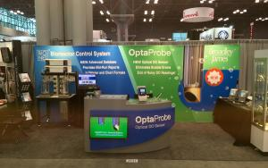 Broadley-James Custom Demo Counter at INTERPHEX 2016 in New York, New York