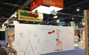Calisson 20 x 30 Exhibit at ABC Kids Expo 2015 in Las Vegas, Nevada