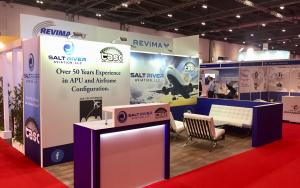 Salt River Aviation 3m x 6m Exhibit at MRO Europe 2017 in London, United Kingdom