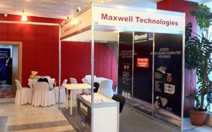 Maxwell Technologies 2m x 3m Exhibit at RADECS 2015 in Moscow, Russia
