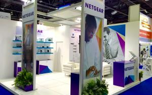 NETGEAR 5m x 5m Exhibit at GITEX 2015 in Dubai, United Arab Emirates