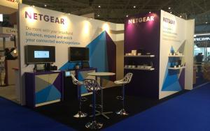 NETGEAR 3m x 6m Exhibit at BBWF 2014 in Amsterdam, The Netherlands