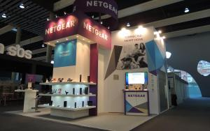 NETGEAR 6m x 6m Exhibit at MWC 2014 in Barcelona, Spain