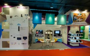 NETGEAR 3m x 9m Exhibit at IBC 2013 in Amsterdam, The Netherlands