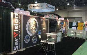 SerVision 10 x 30 Exhibit at ISC West 2015 in Las Vegas, Nevada