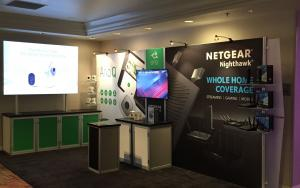 NETGEAR 10 x 20 Exhibit at CES 2016 in Las Vegas, Nevada